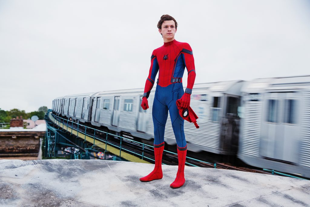 spiderman movie scene train