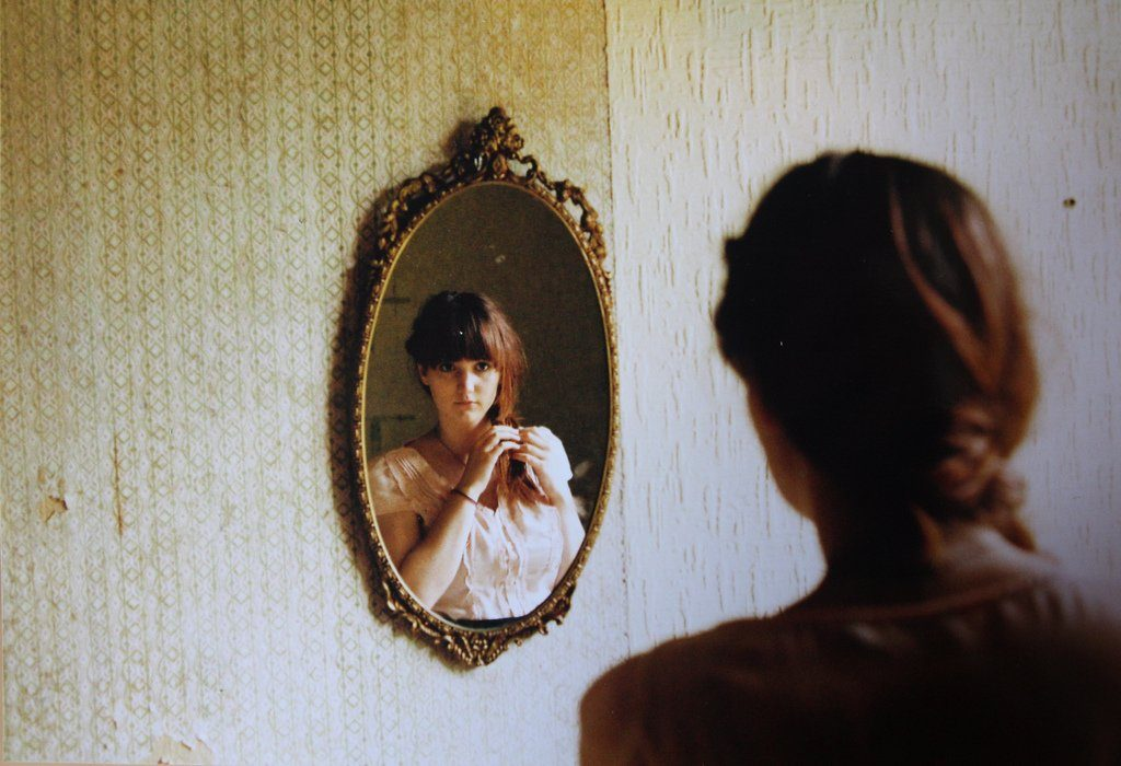 girl mirror beautiful wall maaf