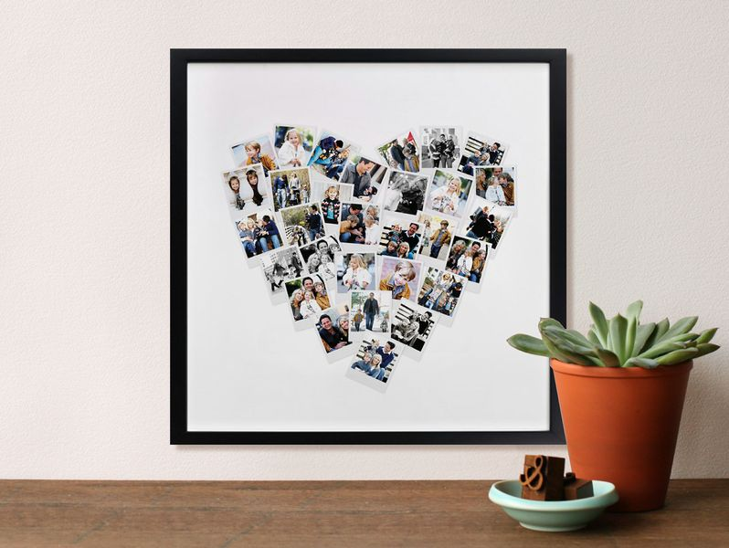 collage photo frame love black white