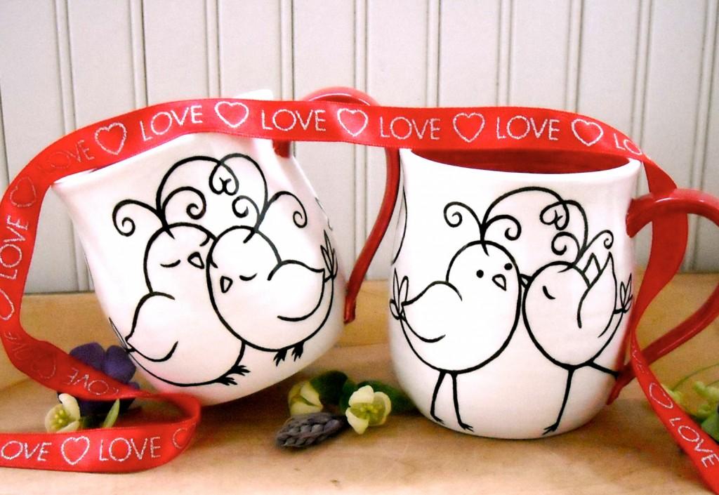 mug gift bird valentine