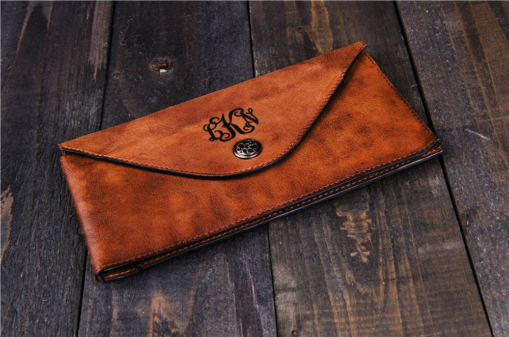 wallet brown gift valentine