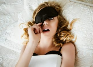 surprised woman sleeping