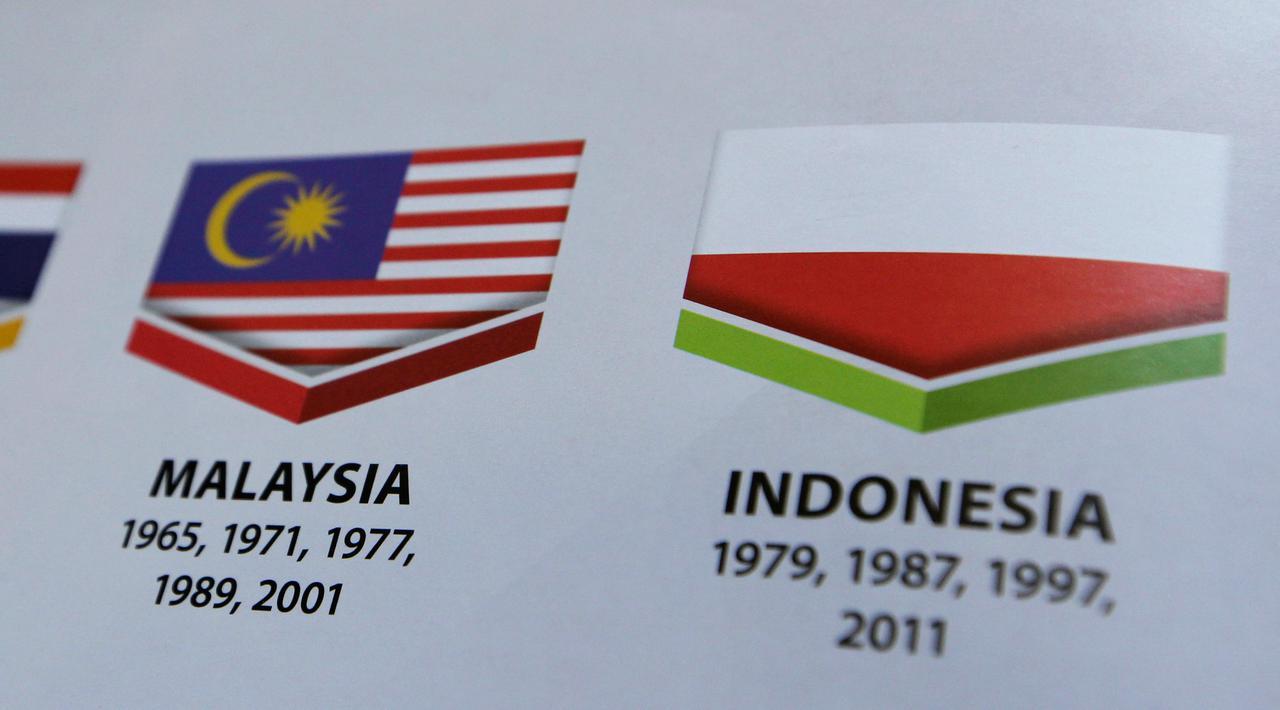 sea games 2017 malaysia indonesia flip flag bendera terbalik