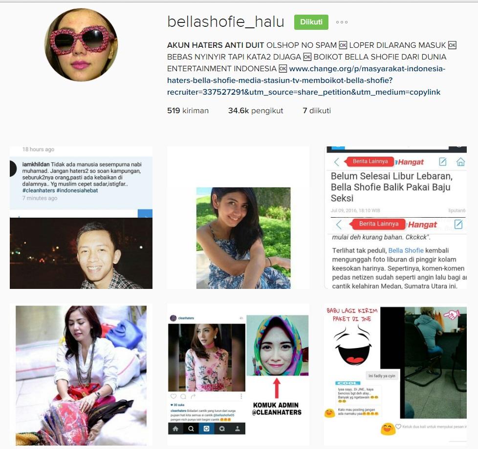 media sosial haters artis selebriti indonesia ayu tingting nikita mirzani hoax lambe turah jonru ginting