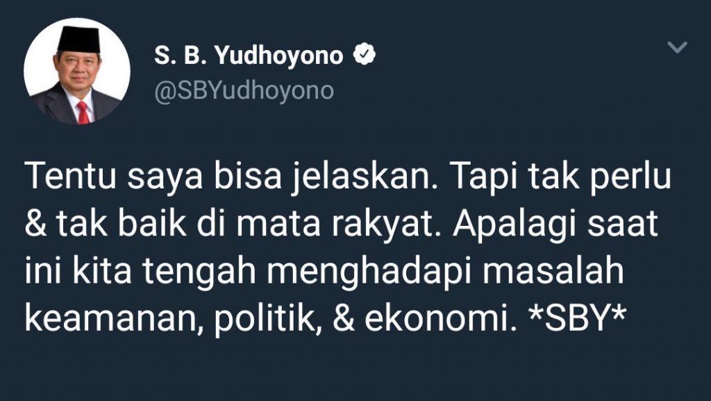 SBY twitter jelaskan meme