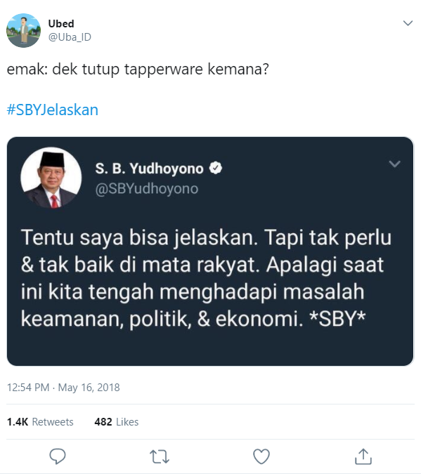 SBY twitter meme jelaskan