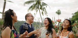 ubud food festival people standing
